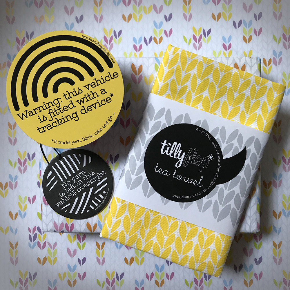 TILLY FLOP DESIGNS  TillyFlop designs is where yarn and graphics meet: you'll find a range of greeting cards, textiles, temporary tattoos, prints, bumper stickers, air fresheners, wrapping paper plus a new product or two that celebrate knitting and stitching with gentle humour and a strong design aesthetic.