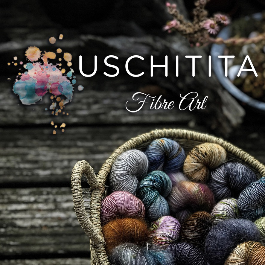"USCHITITA  Uschitita Fibre Art is a german couple, living and dyeing in the beautiful Netherlands. It all started when Stephie, a medical student and passionate knitter, decided that becoming a doctor alone, would not keep her busy. Stephie and her husband Juergen, halftime dyer and fulltime squirrel dad, are thankful to be part of EYF 2019. They will bring some of their well known colorways along with some new ""squirrel surprises"" and a special EYF colorway."