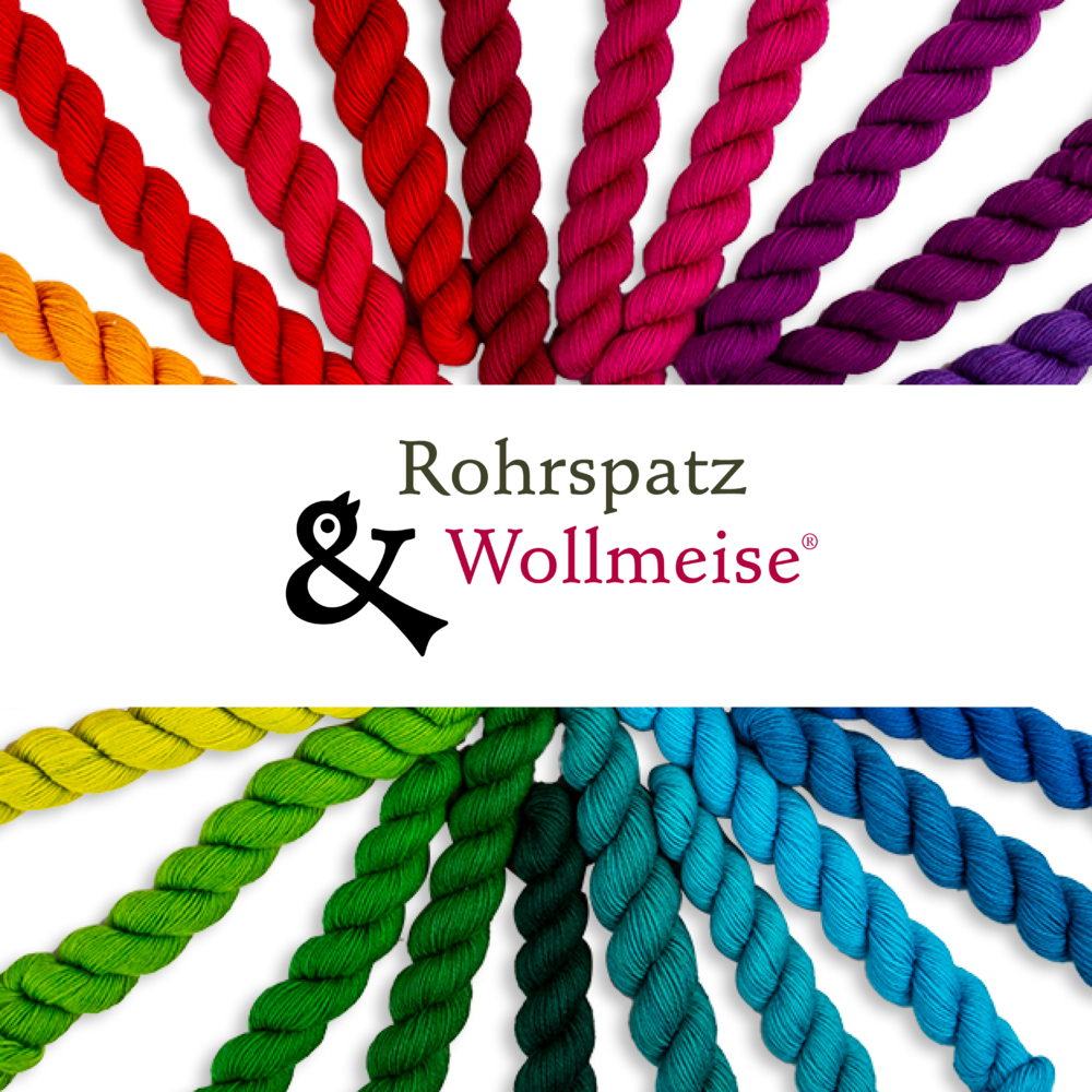 ROHRSPATZ und WOLLMEISE  We want to make you enthusiastic about our unique quality yarns and take you along into our world of extraordinary hand-dyeds!