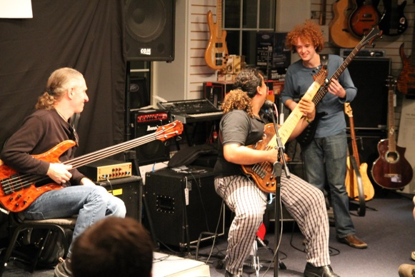 Performing with Michael Manring and Sergio Groove