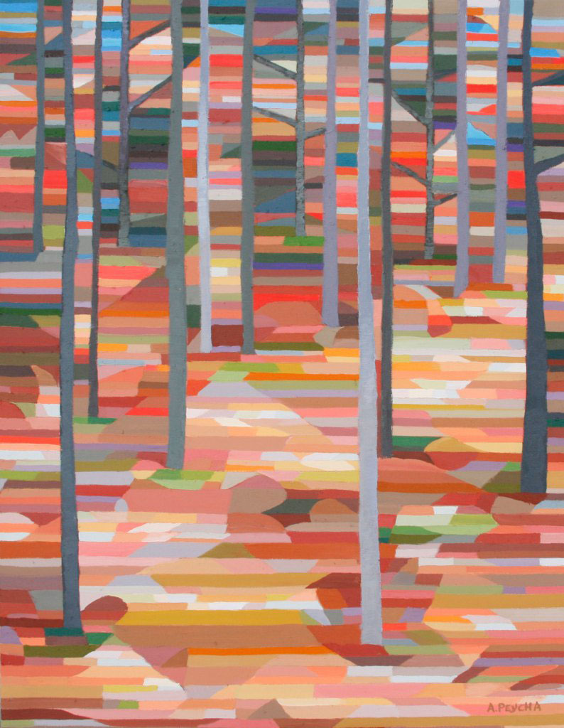 Andrew Peycha, Late Fall Forest, 2015, $3,200