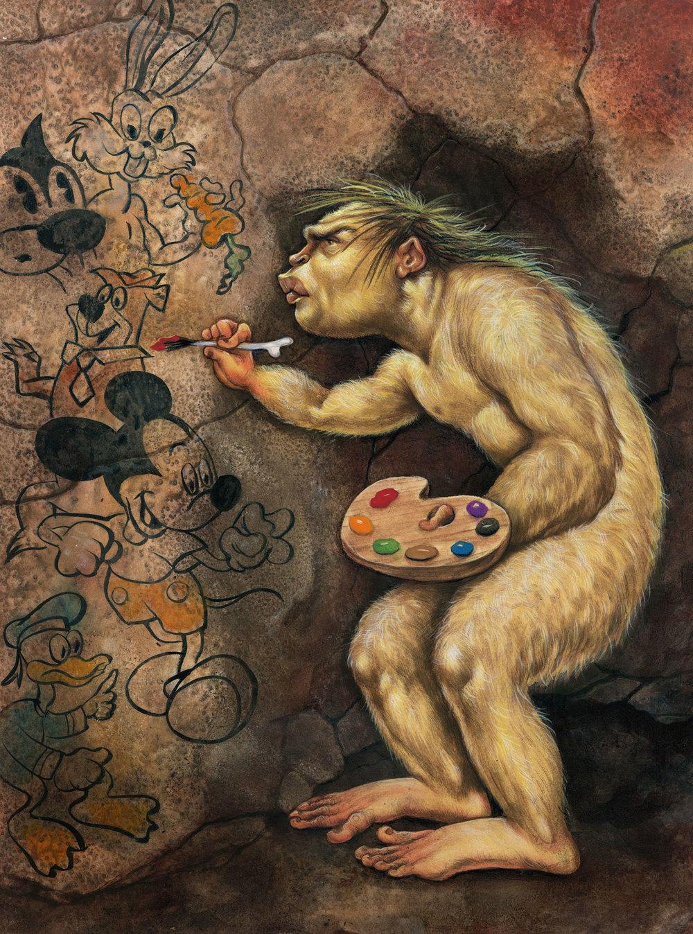 Anita Kunz, Mondo Neanderthal, 2008, $1,800