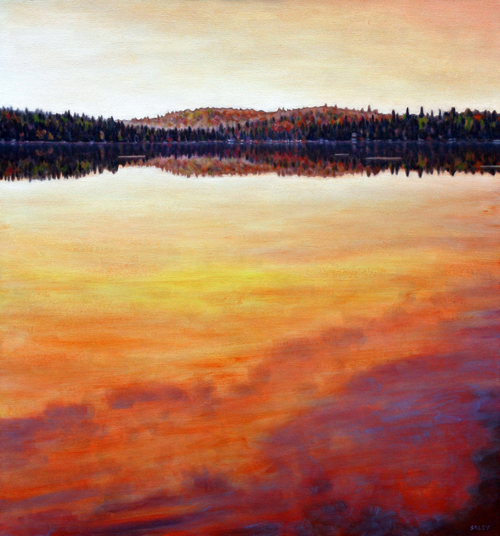 Rob Saley, Algonquin Sunset, Canoe Lake, 2012, $2,800