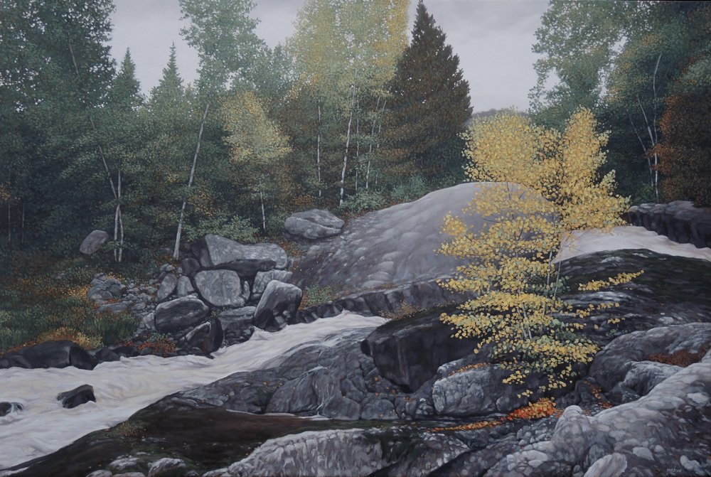 David Marshak, Rushing Rapids, Algoma, 2015.