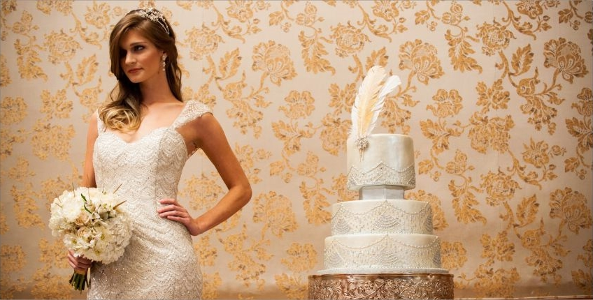 Bride and Wedding Cake