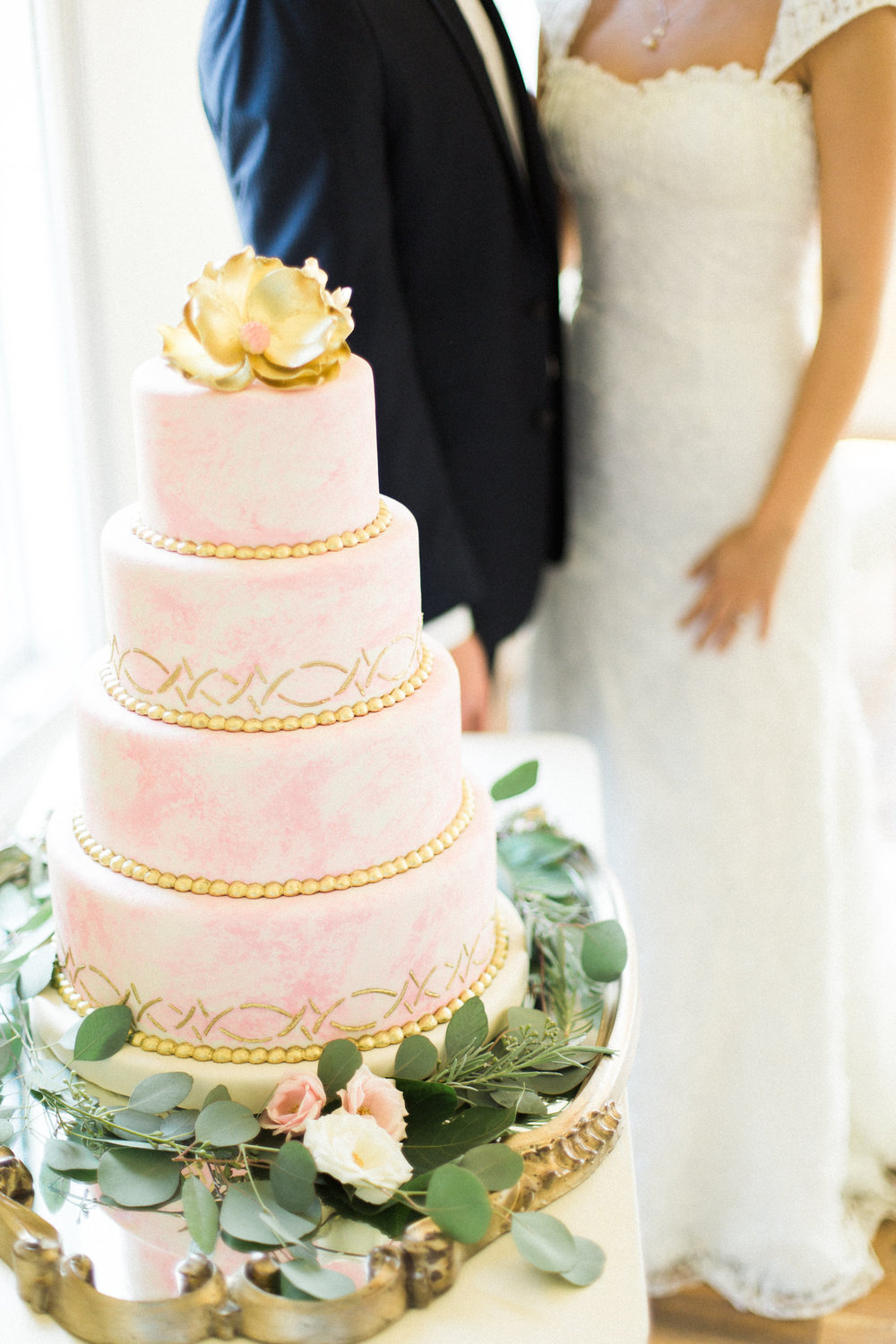 Couple and Pink Cake | Edible Art Bakery of Raleigh
