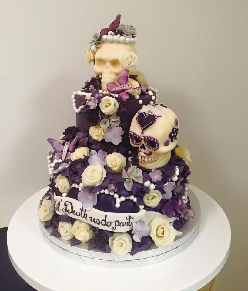 Til Death Do You Part Cake | Edible Art Bakery of Raleigh