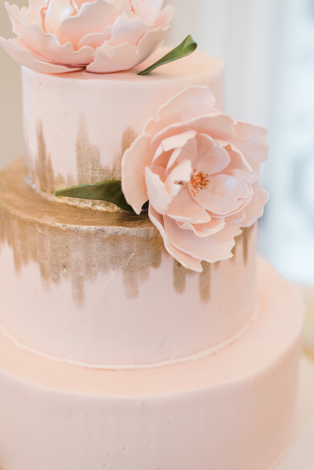 Pink Cake Detail  | Edible Art Bakery of Raleigh
