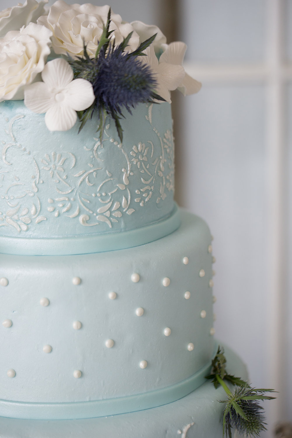 Light Blue Detail | Edible Art Bakery of Raleigh