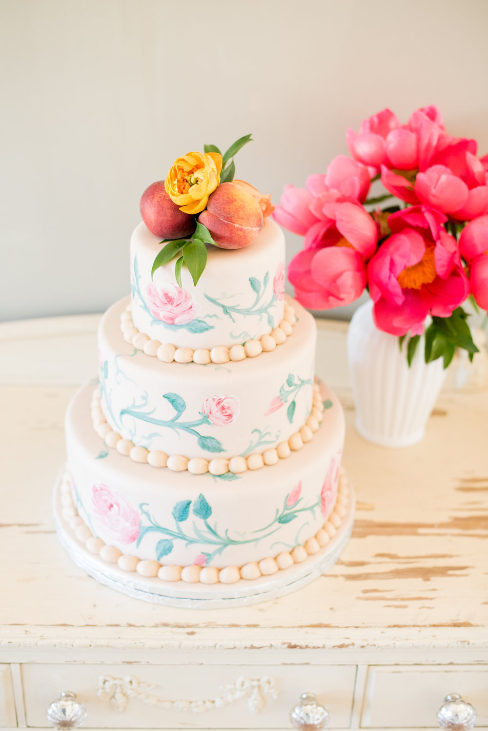 Flowery Cake | Edible Art Bakery of Raleigh
