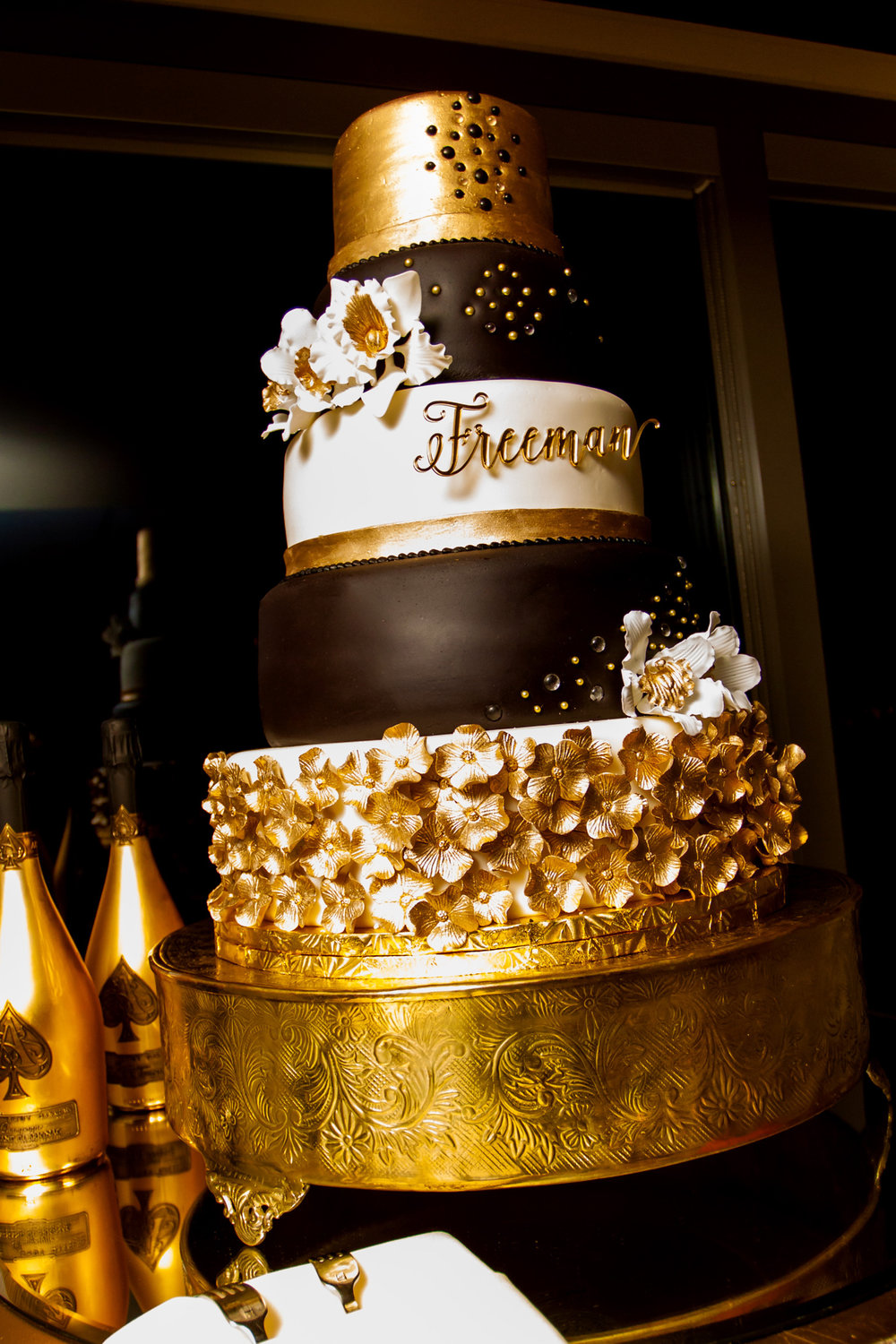 Gold and Chocolate Cake | Edible Art Bakery of Raleigh