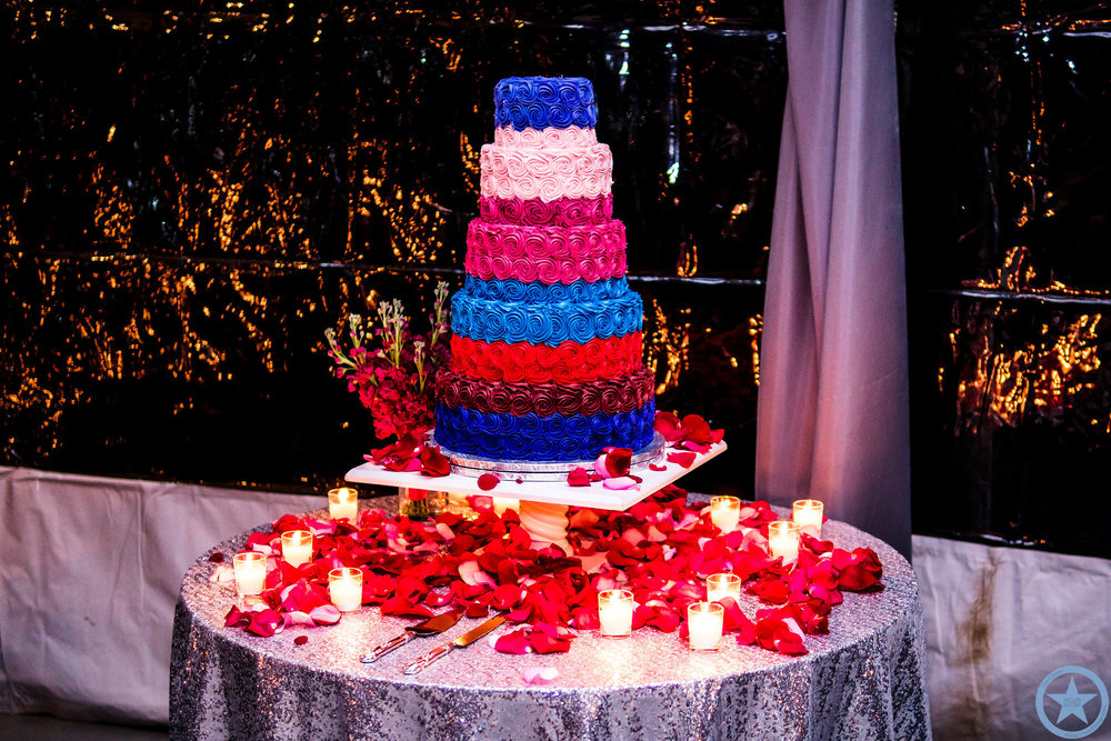 Red Pink And Blue | Edible Art Bakery of Raleigh