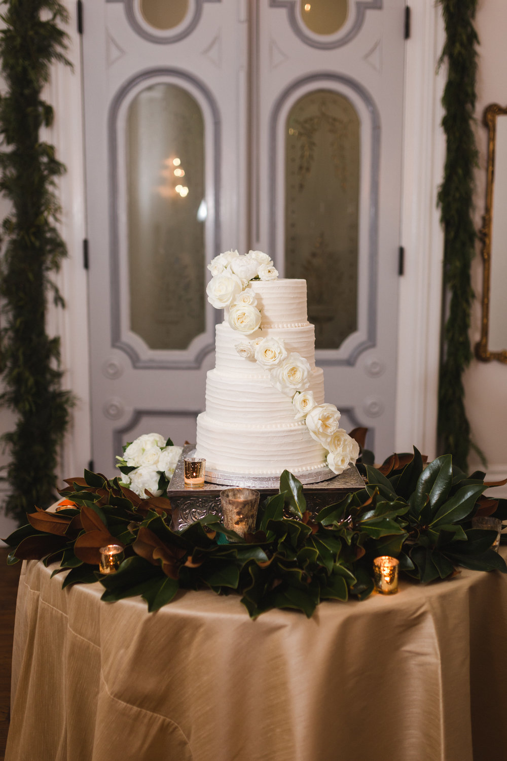 White on White Wedding Cake | Edible Art Bakery of Raleigh
