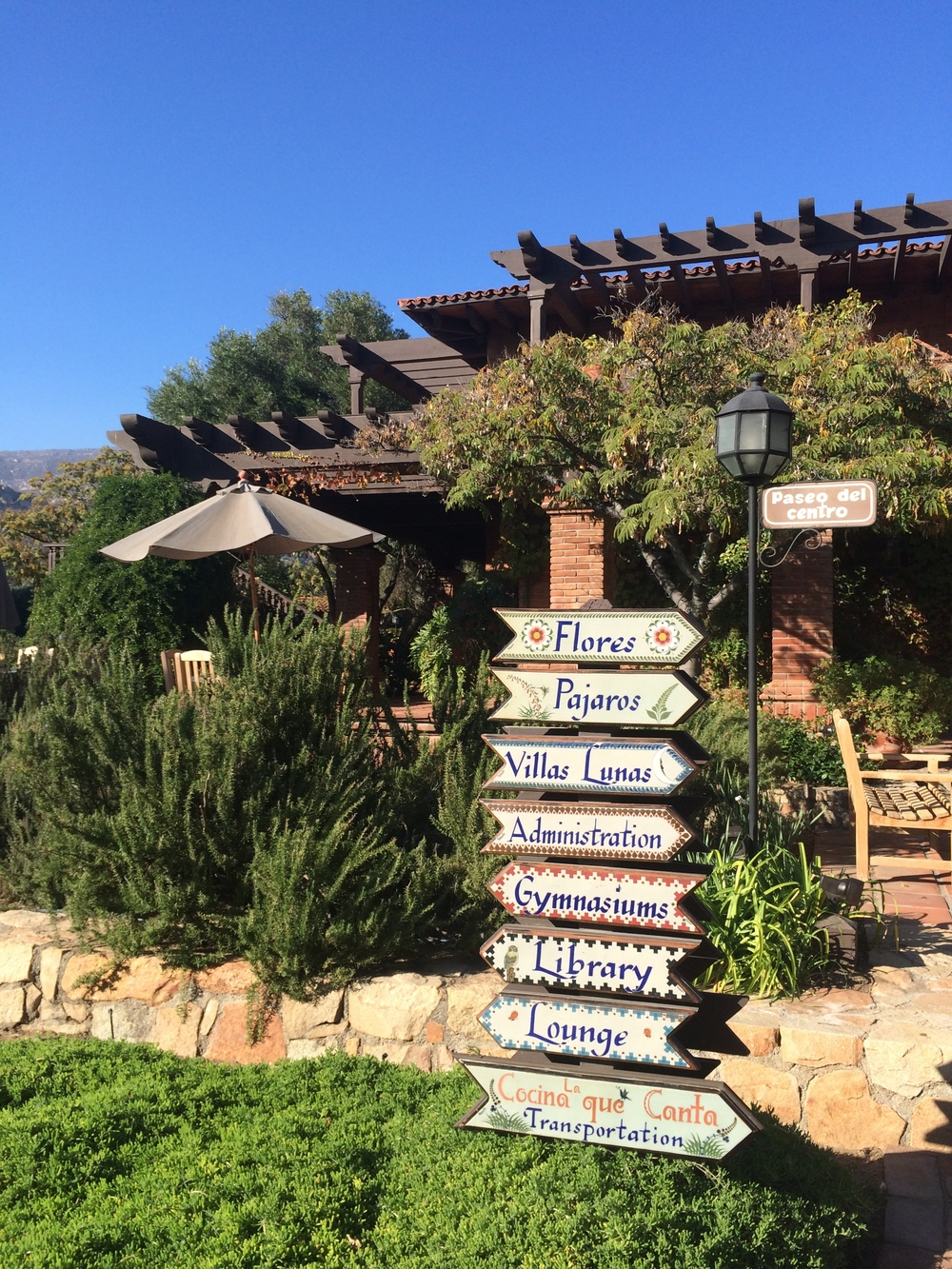Welcoming signs at Rancho la Puerta