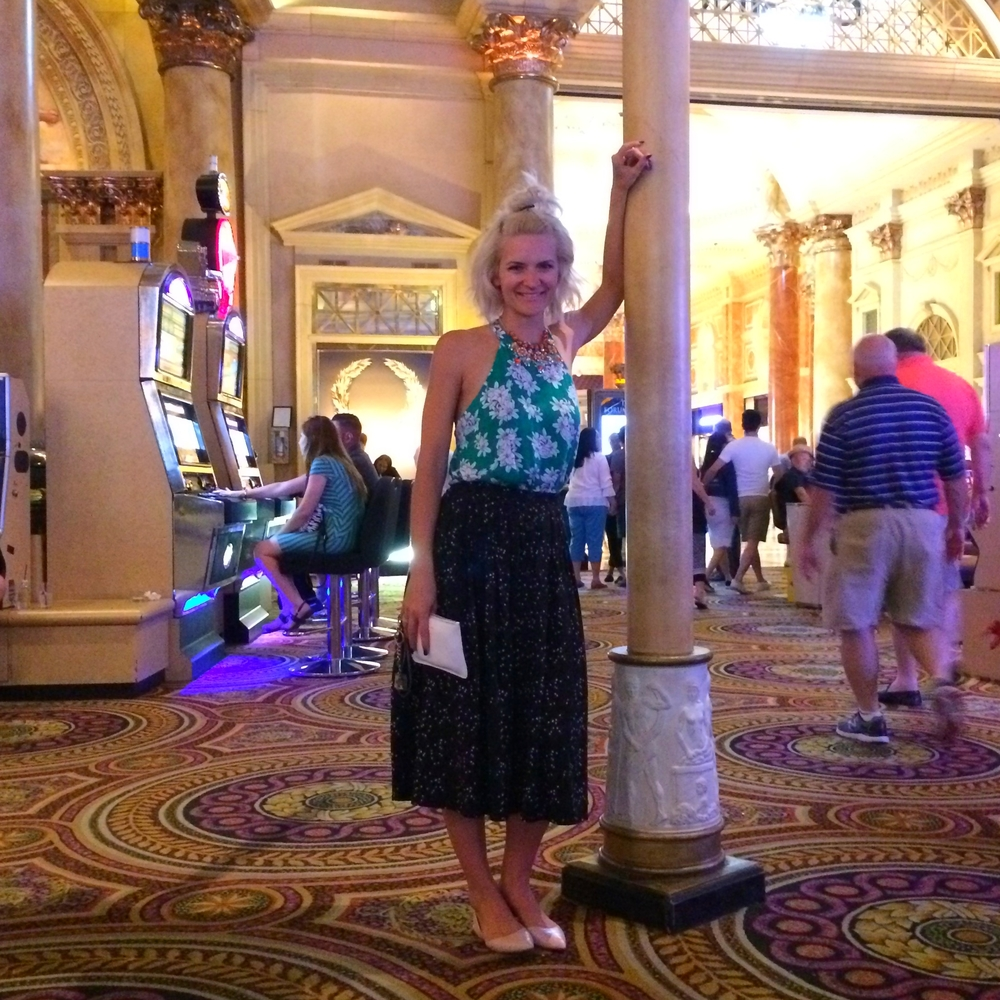 Credits: Photo - Anonymous, Styling - Sarah G. Schmidt, Location - Caesars Palace Casino, Las Vegas