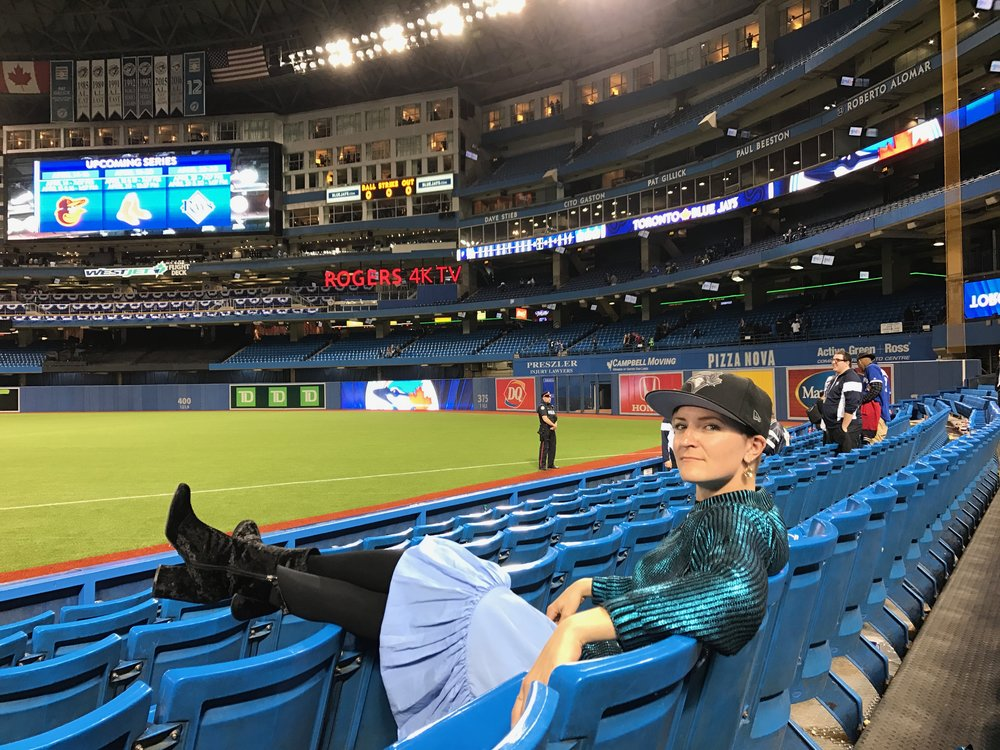 Credits: Photo - Anonymous, Styling - Sarah G. Schmidt, Location - Rogers Centre, Toronto