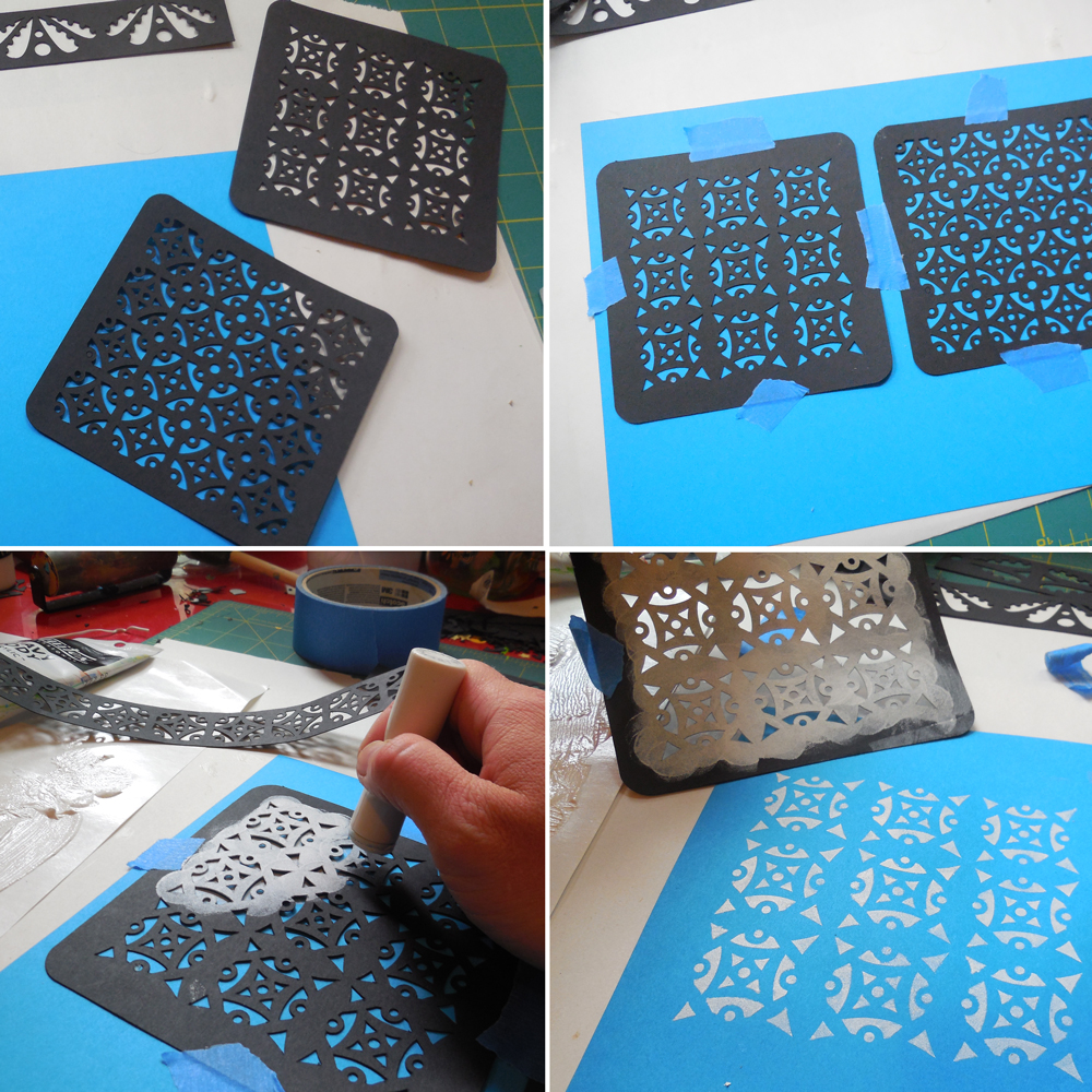 My super low tech stencil process.
