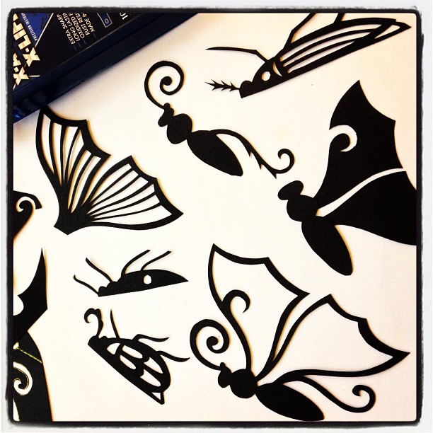 Papercut insect parts!