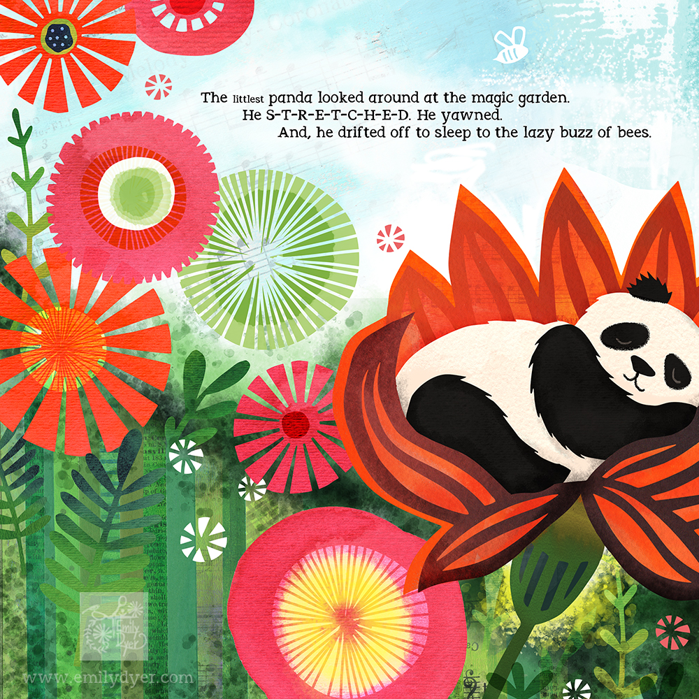 The Littlest Panda, detail, © 2015 Emily Dyer