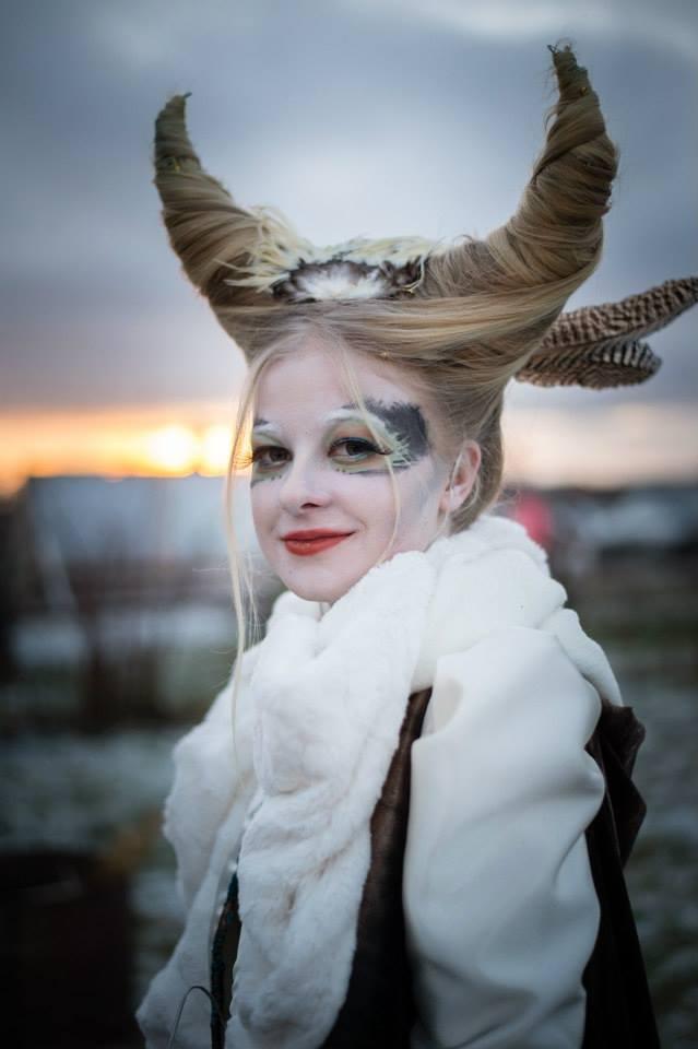 På delad 2:A plats kom detta Vinterväsen som Fanny Andersson skapat och själv gestaltar. Foto: Philippe Rendu.