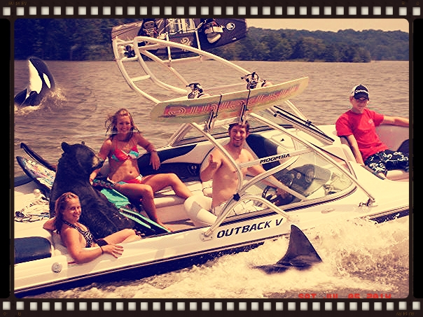 Everyone has a great time at Raccoon Lake!