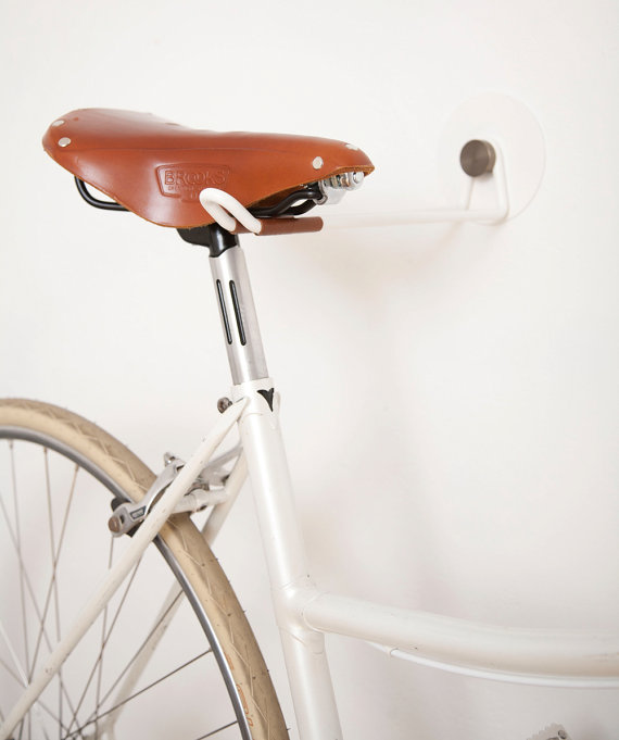 Bike hooks for your walls are absolutely necessary when living in a small apartment!
