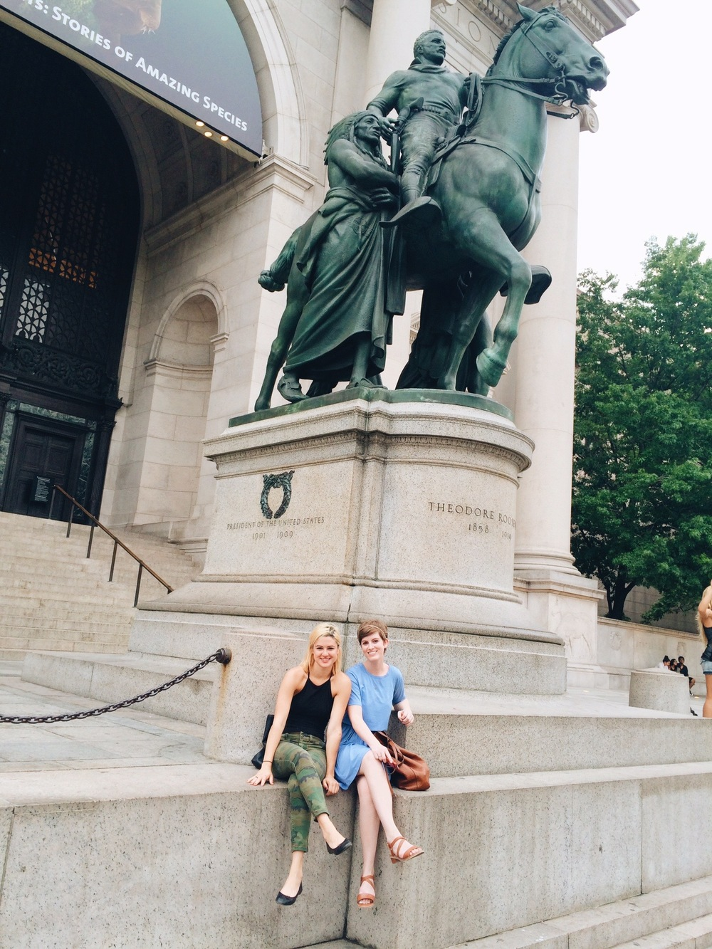 My BFF came to visit and we took our annual awkward photo in front of the Natural History Museum.