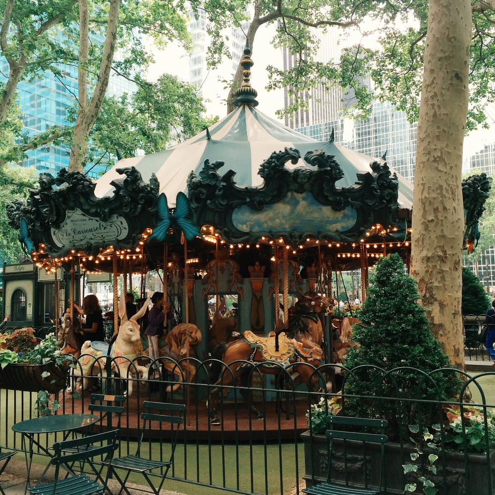 My life motto: ride every available carousel.
