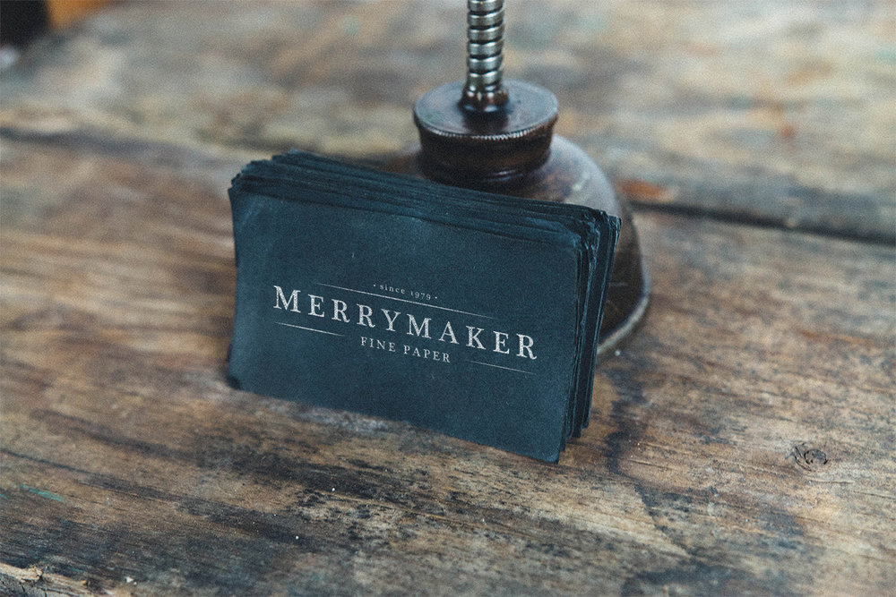 Merrymaker Fine Paper - Fresh out of college, I rebranded a local stationary company.