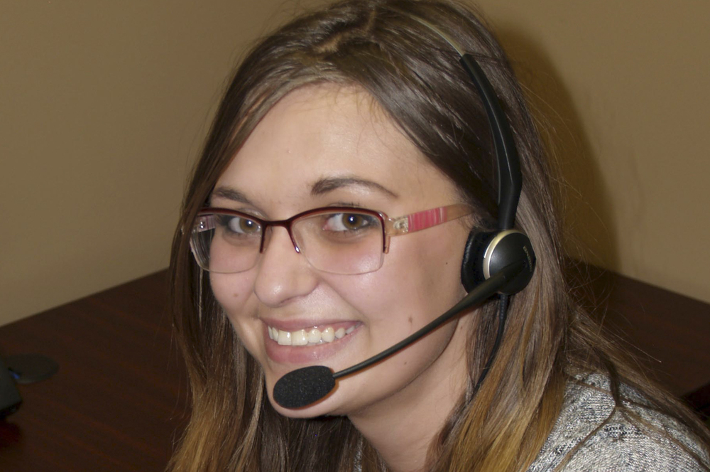 smiling intercon messaging customer service representative