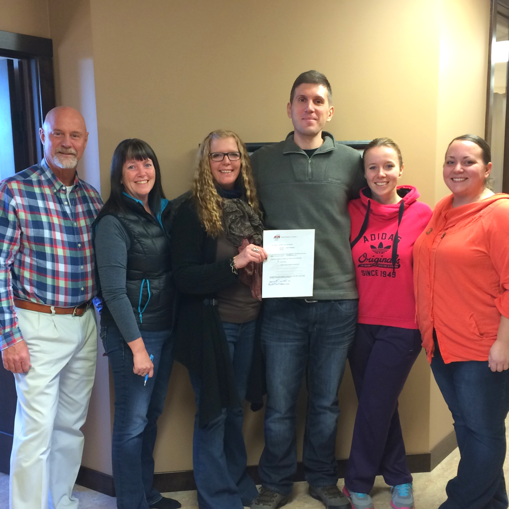 Dan L w/ the Intercon Crew members responsible for the recertification process.