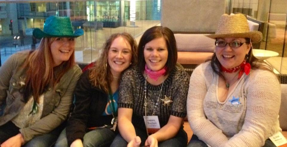 Gloria, Taryn, Cheryl & I taking a break from the festivities in Dallas, TX (2014).