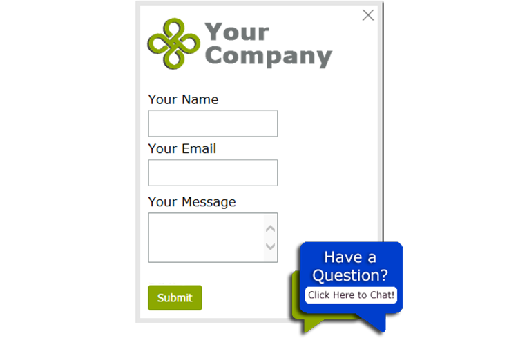 customizable website live chat window and button