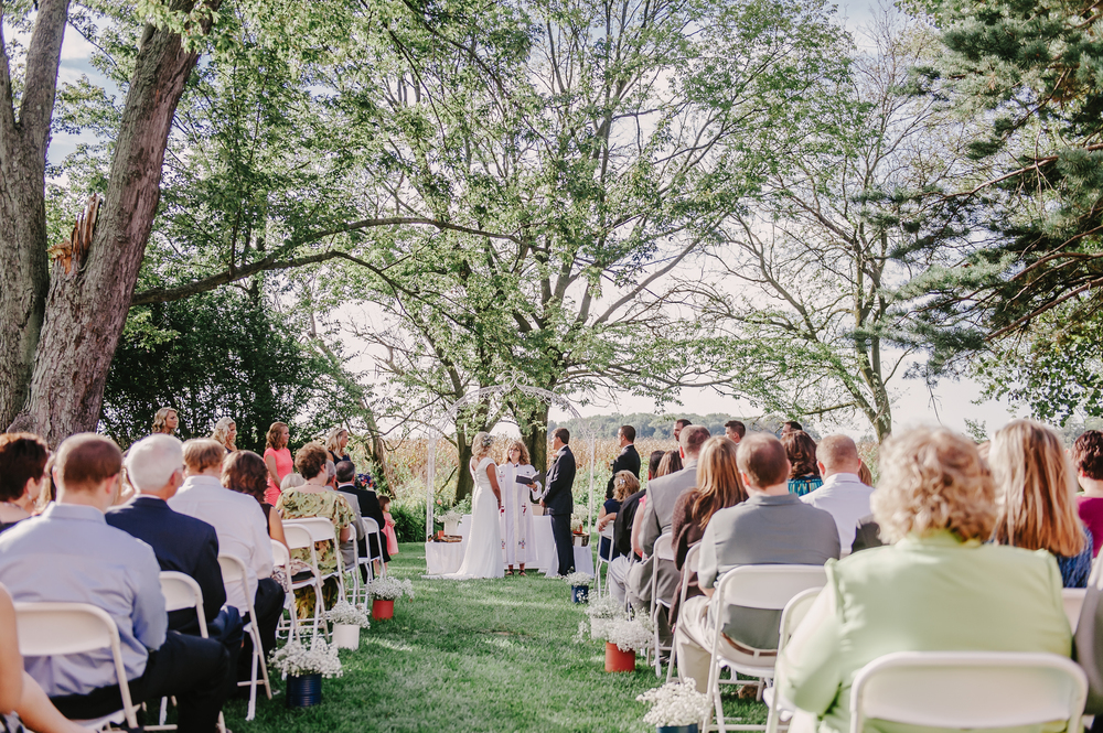 Wedding and Reception in Dayton at the Willow Tree by Andrea Dozier