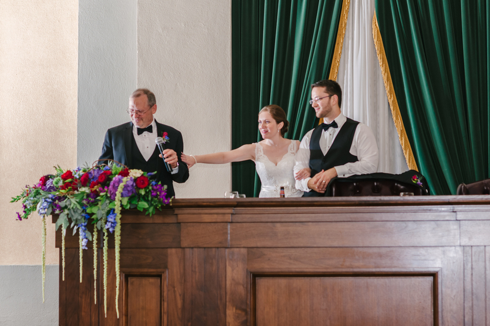 Old Courthouse Wedding Reception by Andrea Dozier in Dayton, Ohio