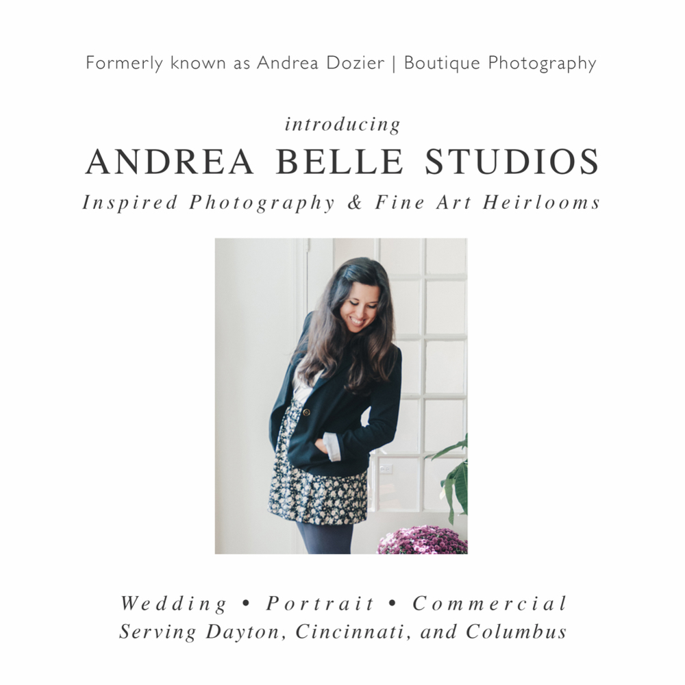 New Name for AndreaDozier.com is now AndreaBelleStudios.com