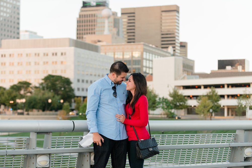 Columbus Ohio Proposal at Rich Street Bridge Engagement | AndreaBelleStudios.com
