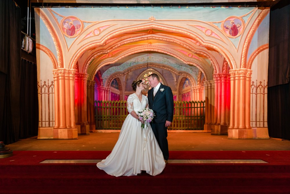 Templar Room Dayton Masonic Center Wedding Ceremony AndreaBelleStudios.com