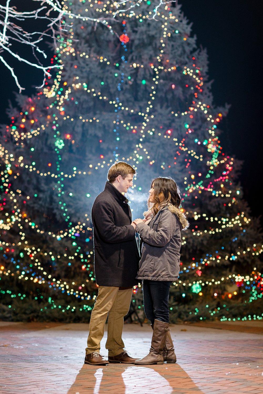 Christmas Proposal | Dayton Ohio Fraze Pavilion | AndreaBellStudios.com