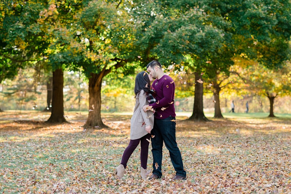 Autumn Columbus Engagement Session | AndreaBelleStudios.com