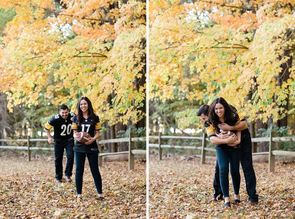 Pittsburgh Steelers Engagement Session | AndreaBelleStudios.com