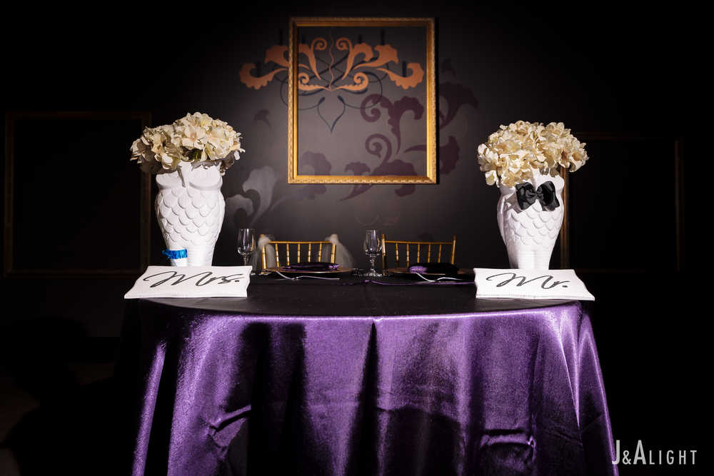 Bride & Groom's table.