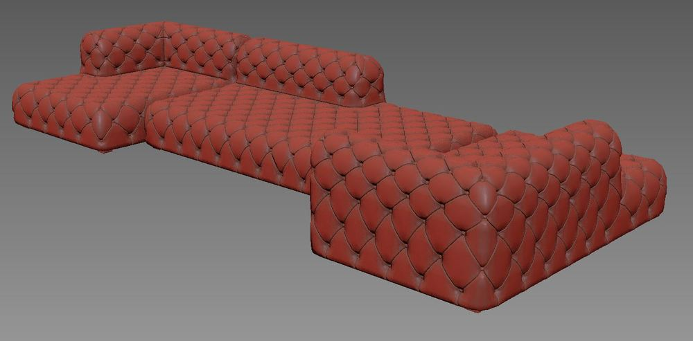 3 sofas using the same modifier stack method. Some of the inside corners are a bit weird, but they're close enough for my purpose.
