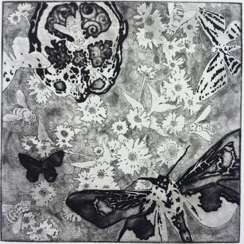 Hakomi 2: Cosmic Flower Garden with Bees