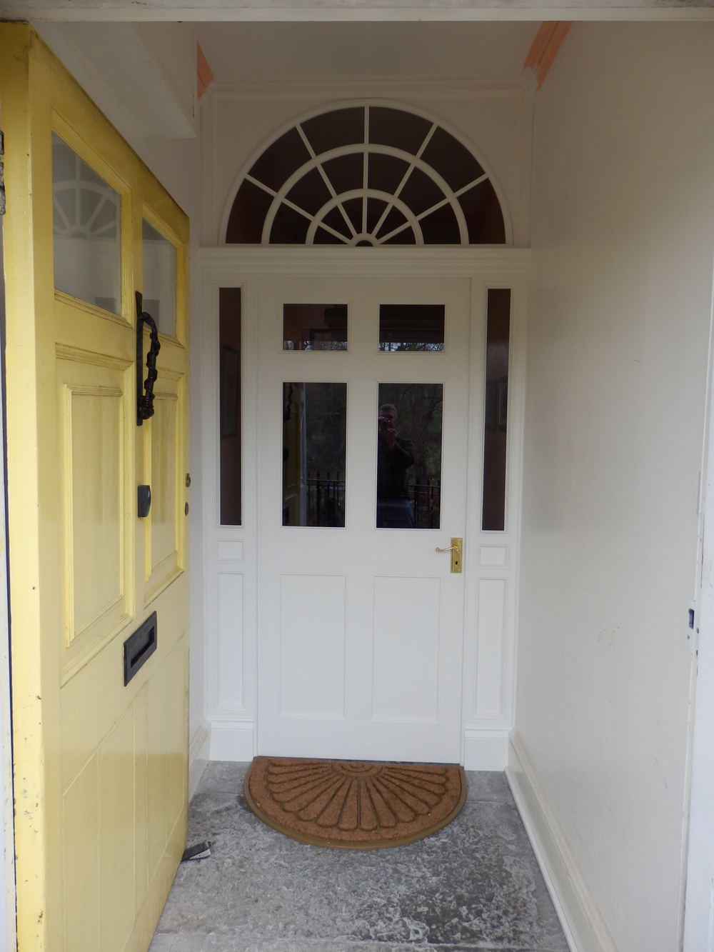 The second half of the project was to  make and fit a new inner door, window and surround. This was designed to fit the period of the house and give an 'always been there' feel.