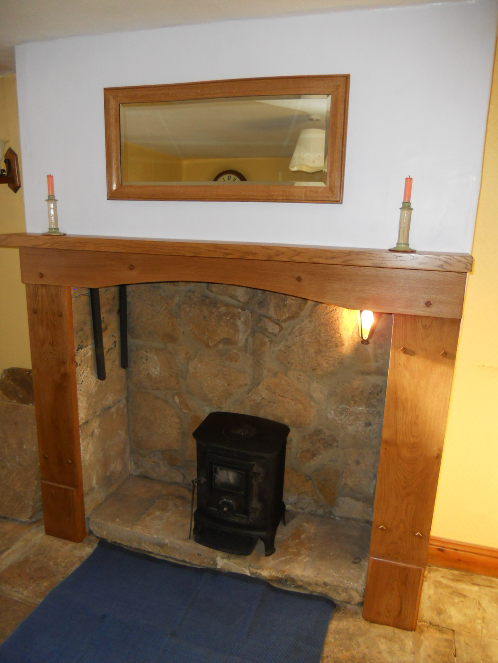 Fire surround & mirror