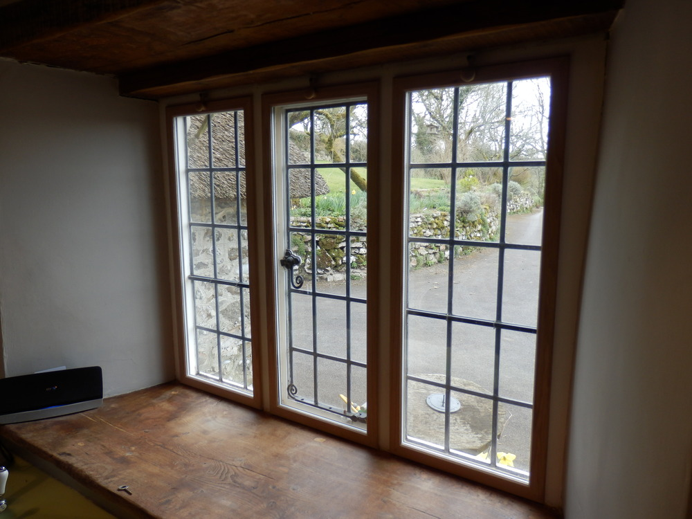 Secondary double glazed oak units