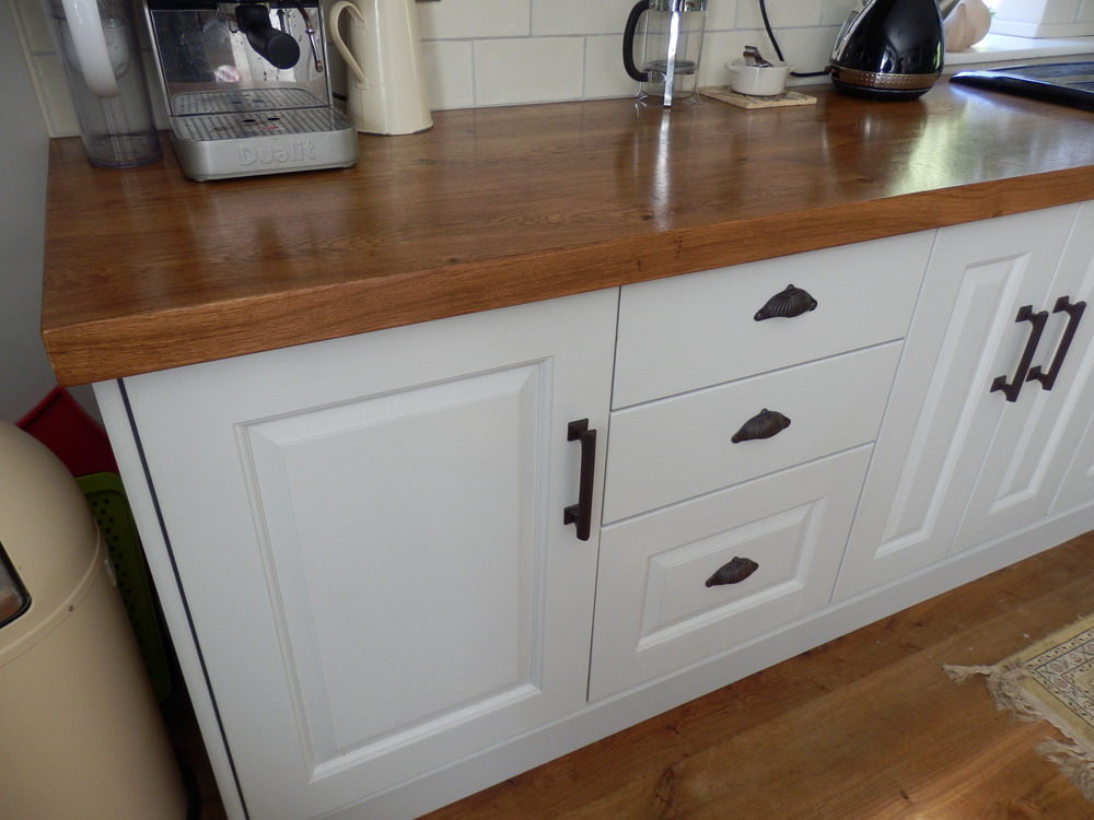 Oak worktop view