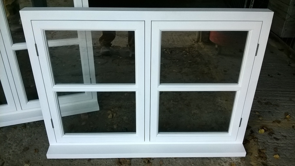 Closer view of casement window