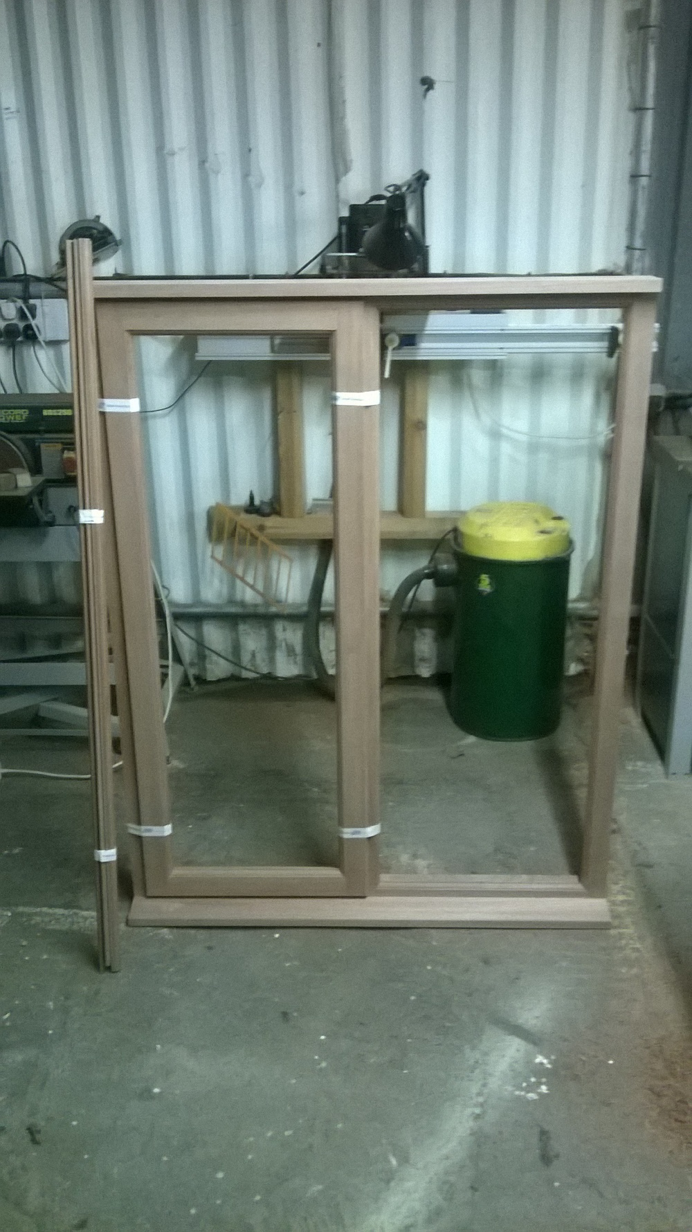 Large sapele window